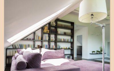 Potkrovlje i police za knjige (Velike ideje za mali prostor)