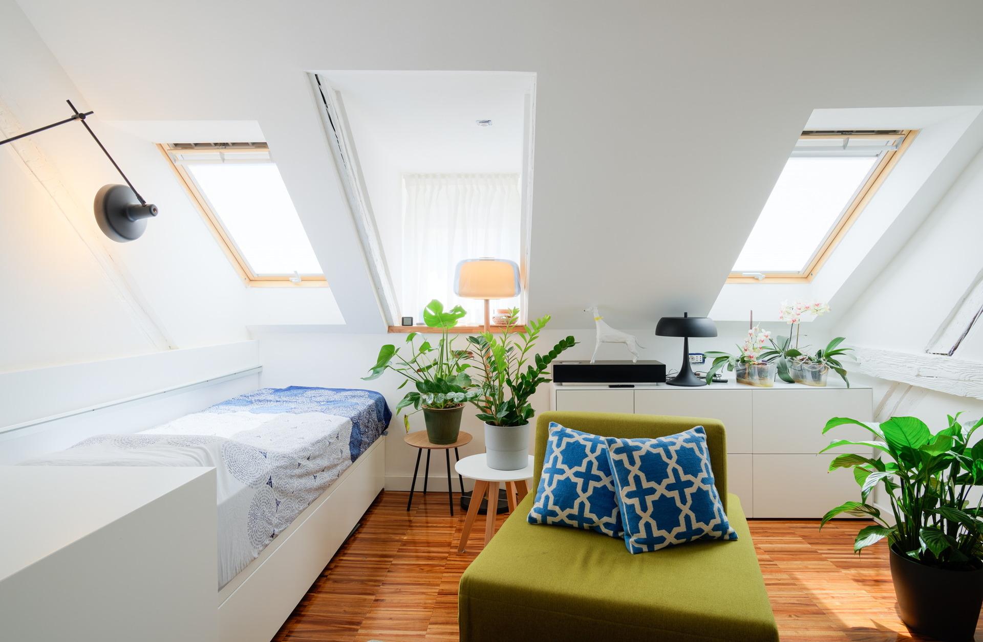 Ekološki dekoriran stambeni prostor u potkrovlju